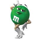 Small Ms Green M&M'S Character