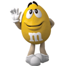 Small Yellow M&M'S Character
