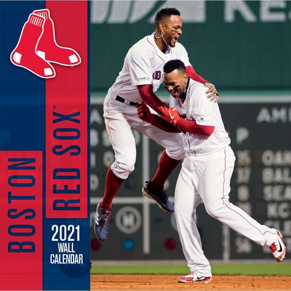 Calendar   Boston   Mini   Wall   Sox   Red