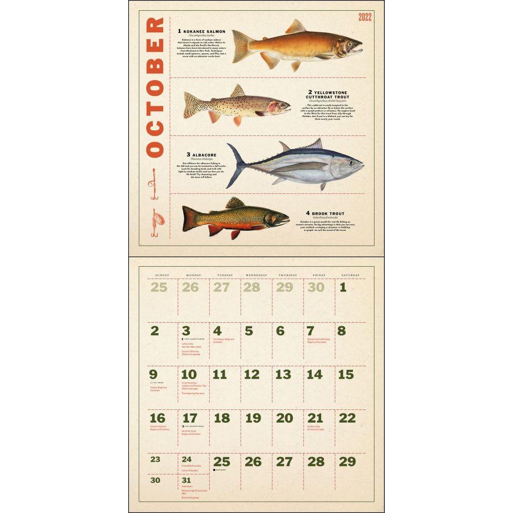 Fishing Illustrations 2022 Wall Calendar Calendars Com