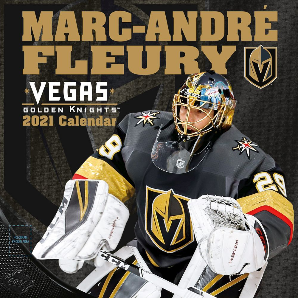 2021 NHL Marc-Andre Fleury Wall Calendar