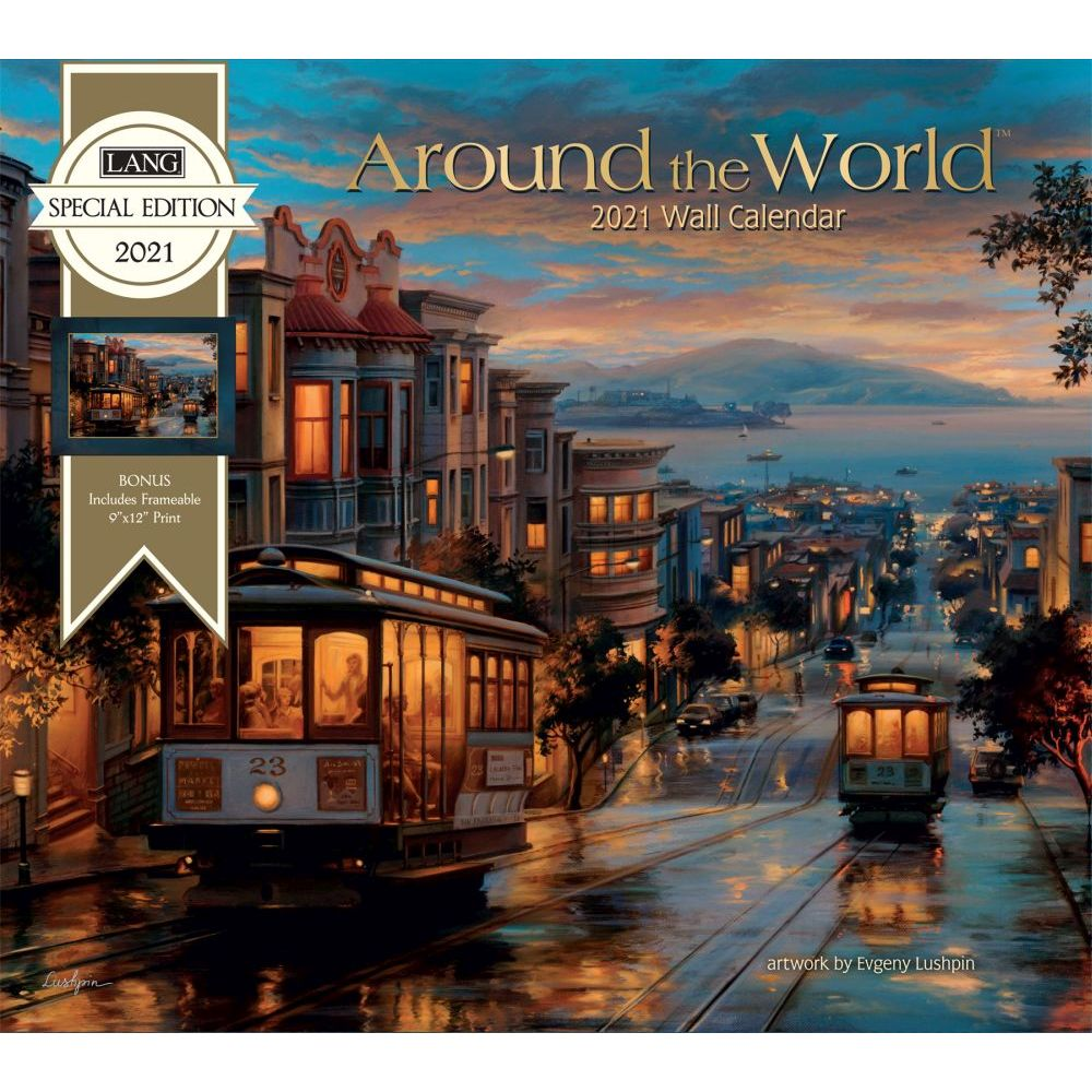 2021 Around the World Special Edition Wall Calendar
