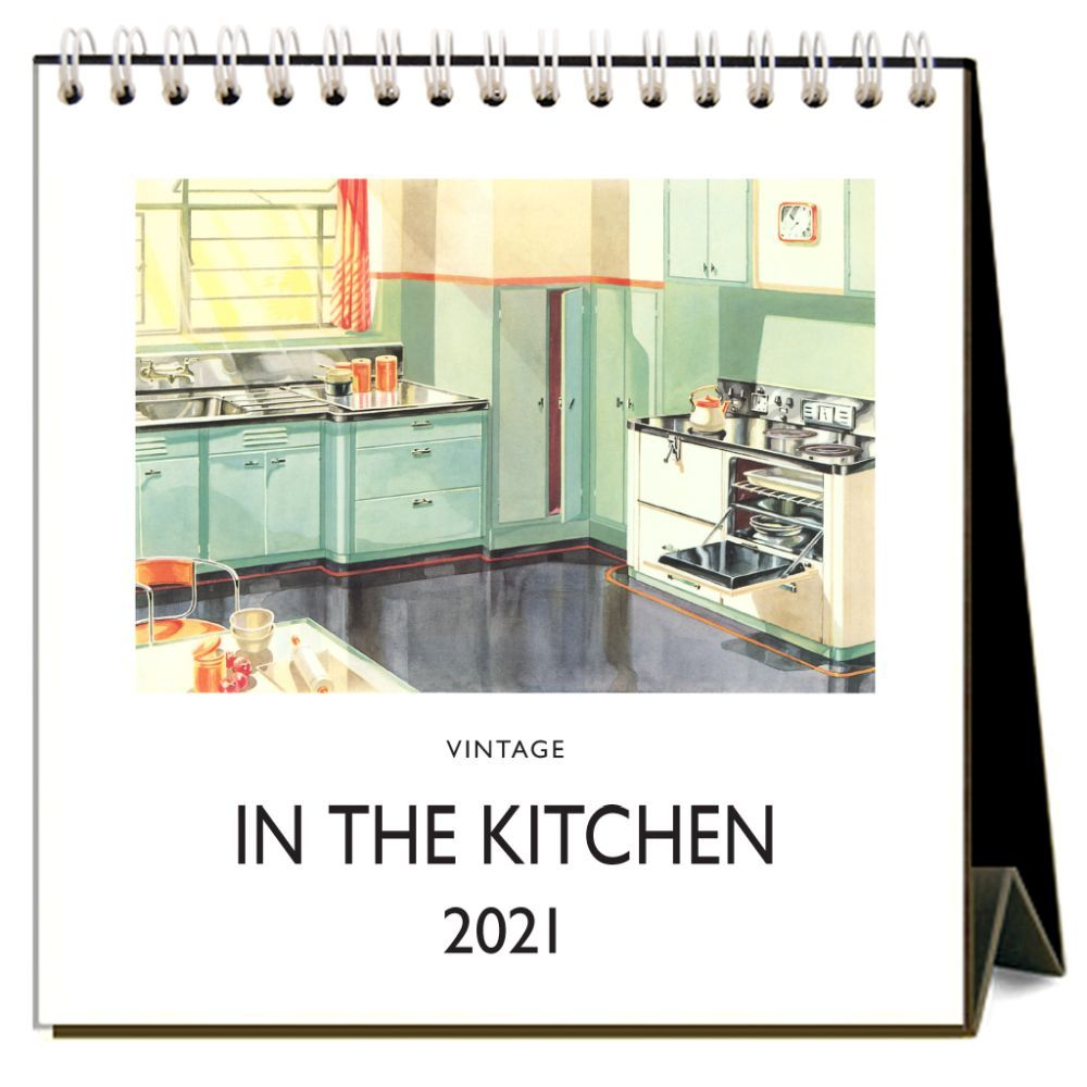 2021 In the Kitchen Nostalgic Easel Calendar