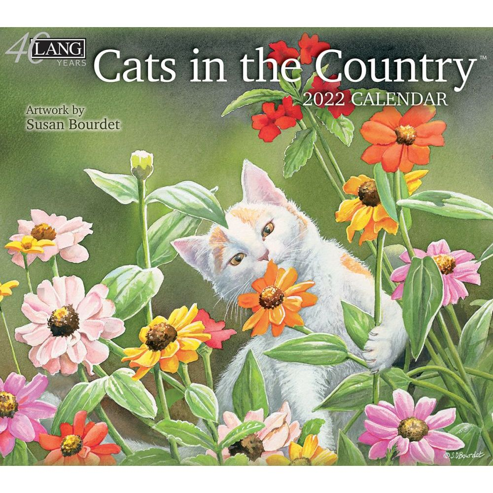 Cats In The Country 2022 Wall Calendar