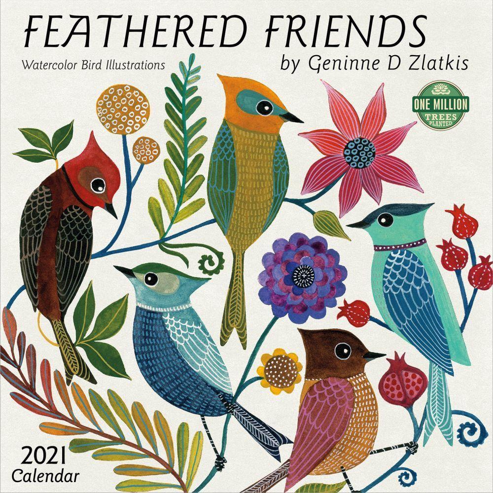 2021 Feather Friends Wall Calendar