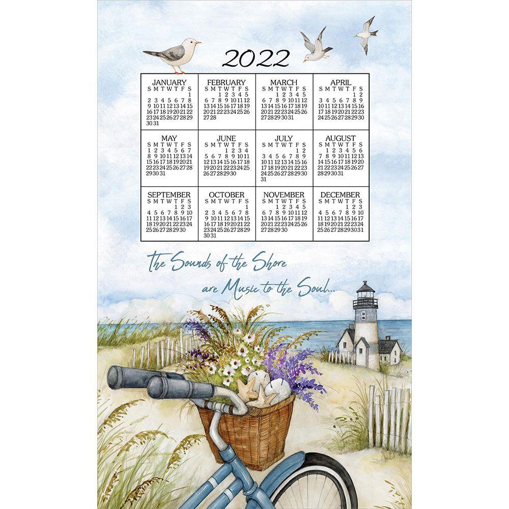 Seashore 2022 Kitchen Towel Calendar
