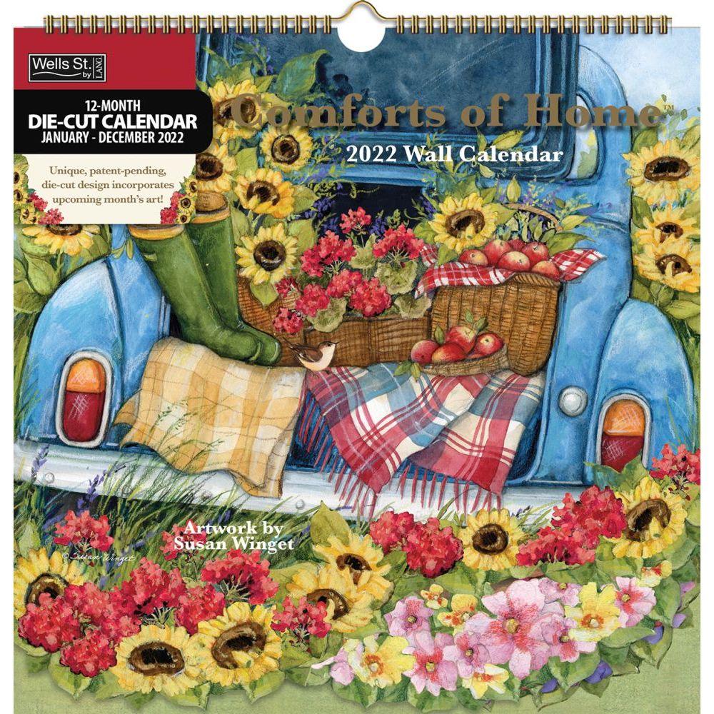 Comforts Of Home 2022 DieCut Spiral Calendar