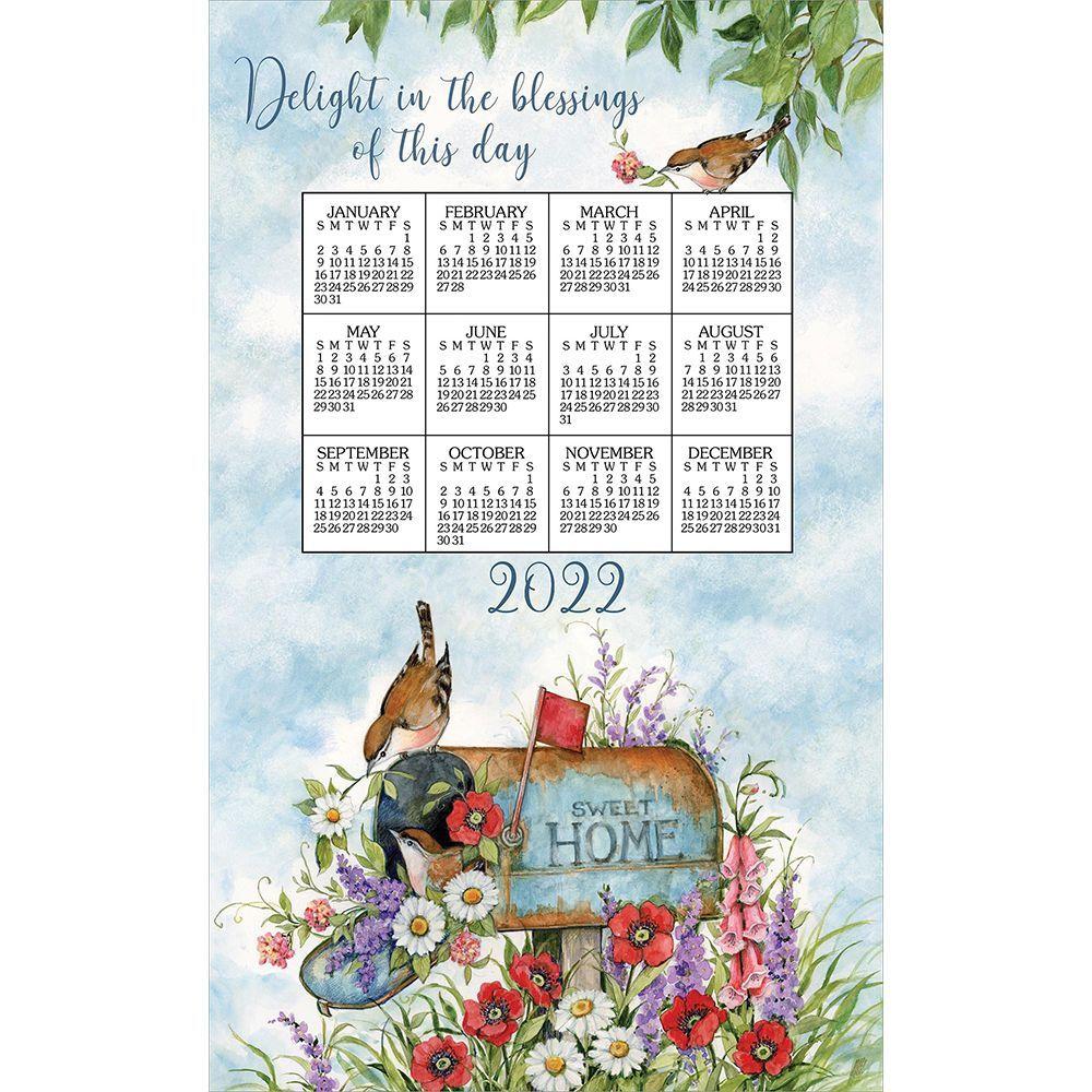 Floral Mailbox 2022 Kitchen Towel Calendar