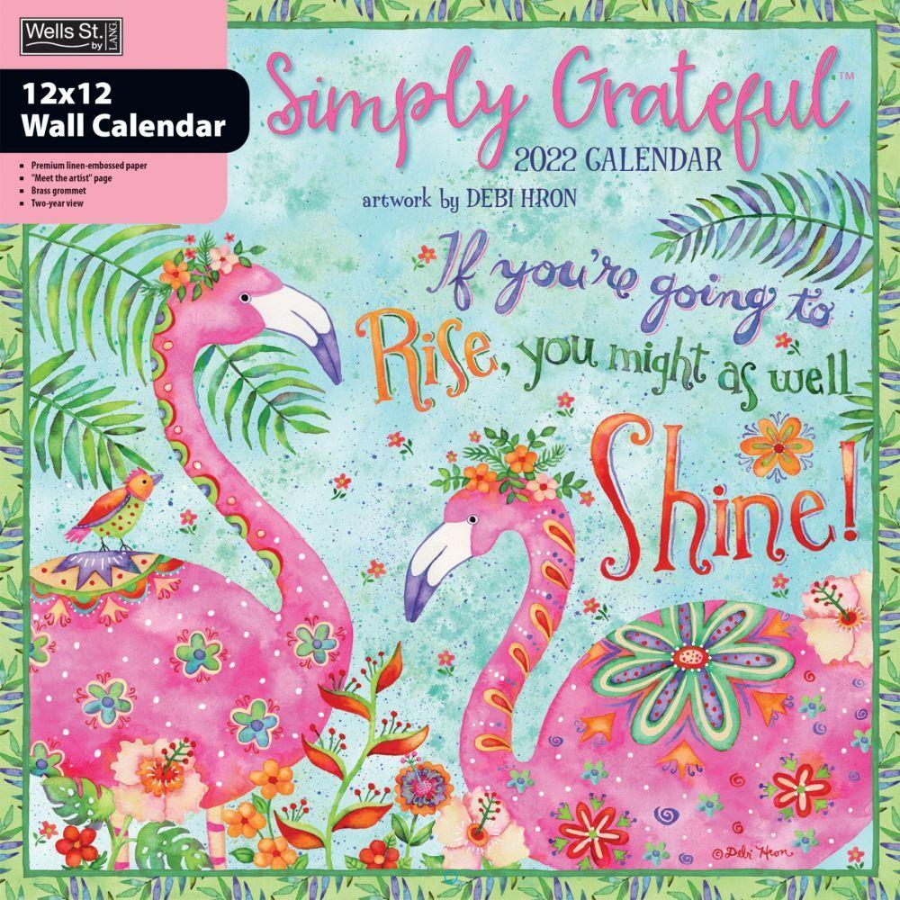 Simply Grateful 2022 Wall Calendar