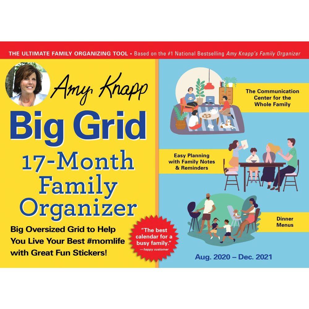 2021 Amy Knapps Family Organizer Wall Calendar