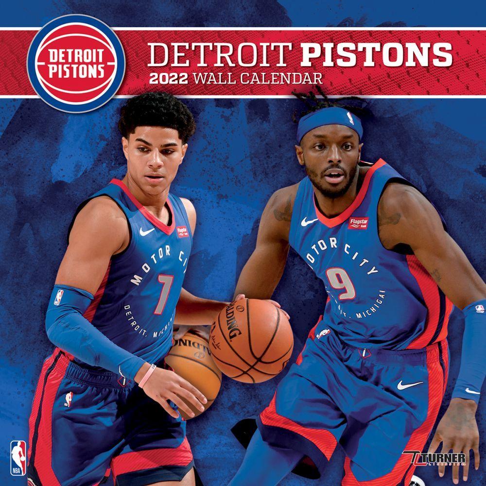 Detroit Pistons 2022 Wall Calendar