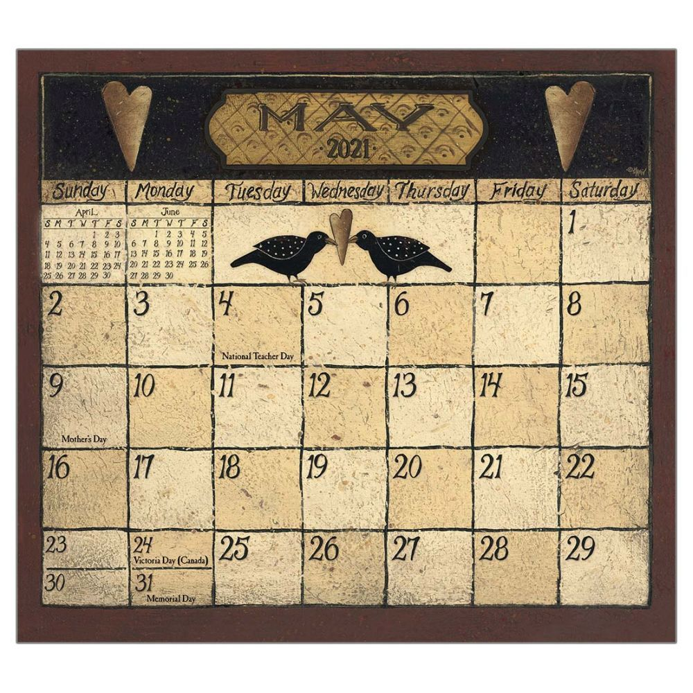 2021 Folk Art by David Magnetic Calendar