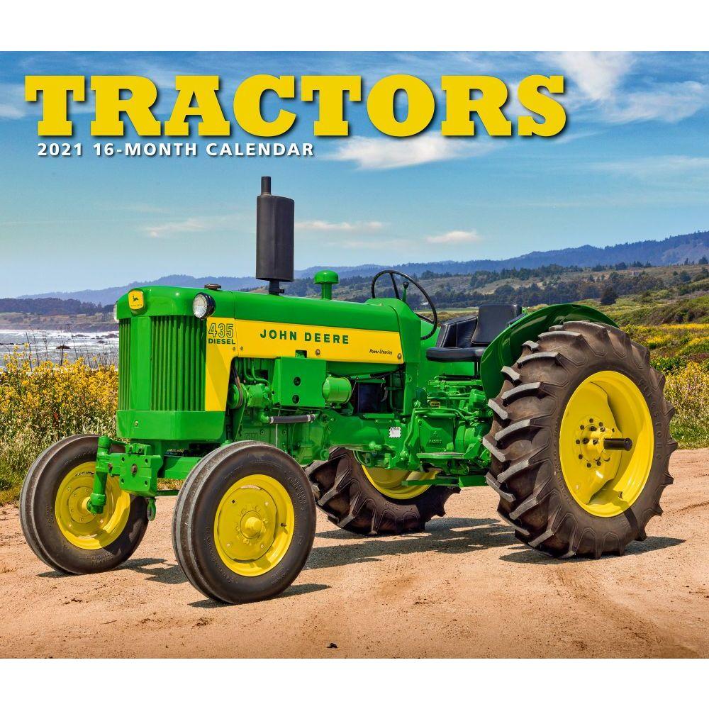 2021 Tractors Deluxe Wall Calendar