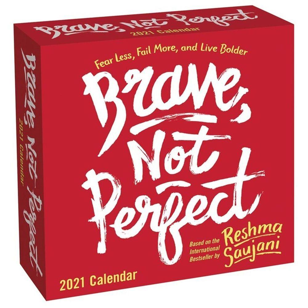 2021 Brave Not Perfect Desk Calendar