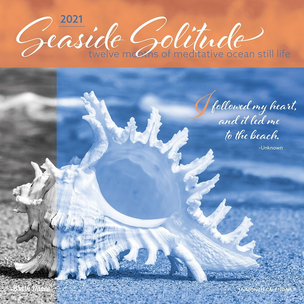 2021 Seaside Solitude Wall Calendar