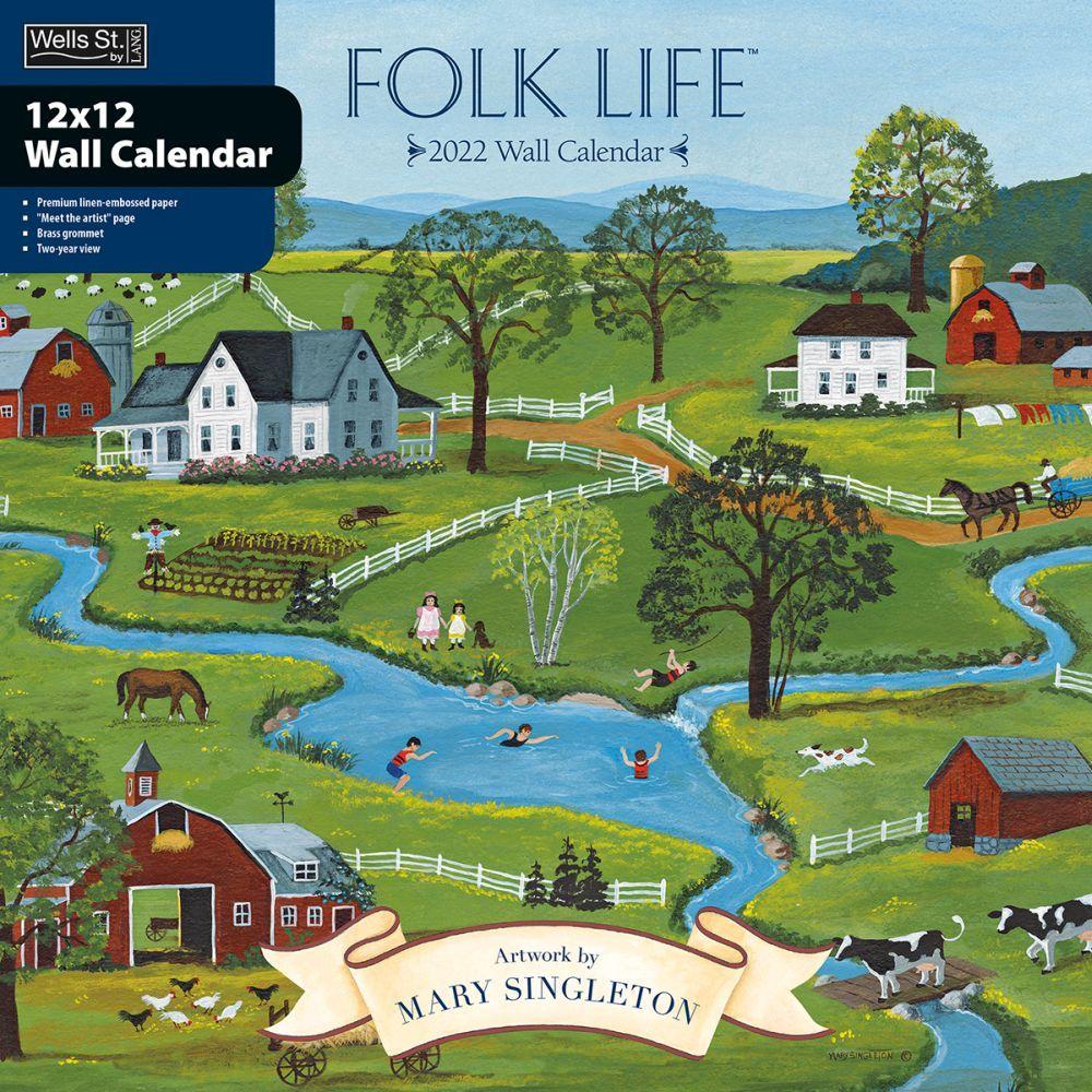 Folk Life 2022 Wall Calendar