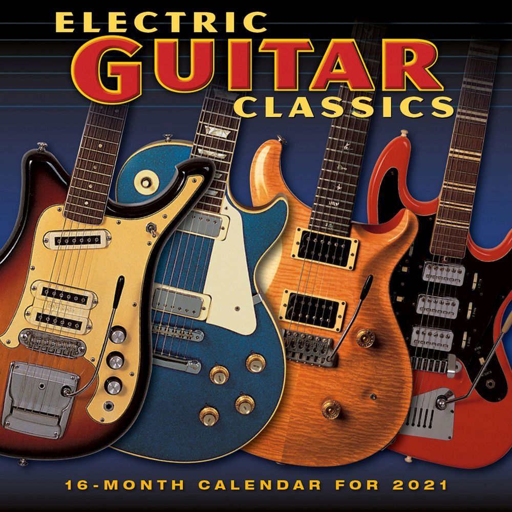 Electric Guitar Classics 2021 Wall Calendar