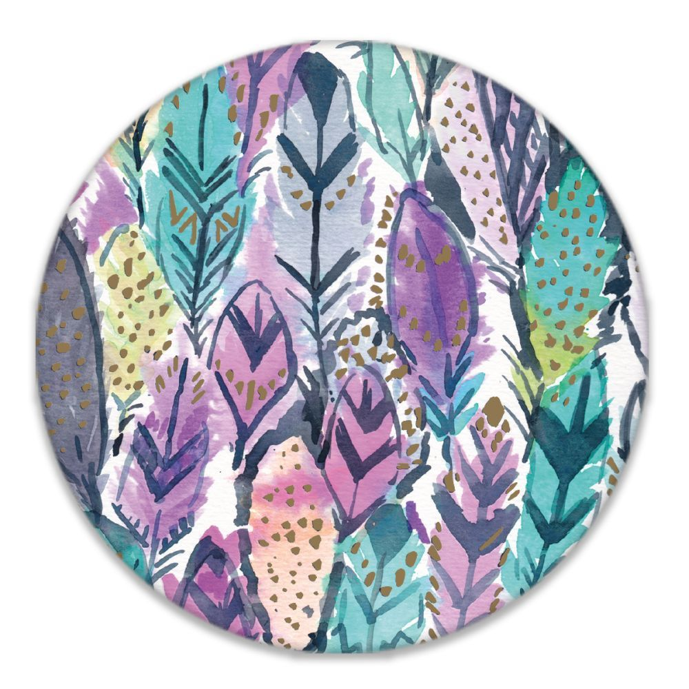 Barbarian-Wild-Feathers-Coasters,-4-Inch-3