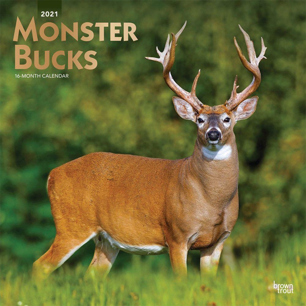 2021 Monster Bucks Wall Calendar