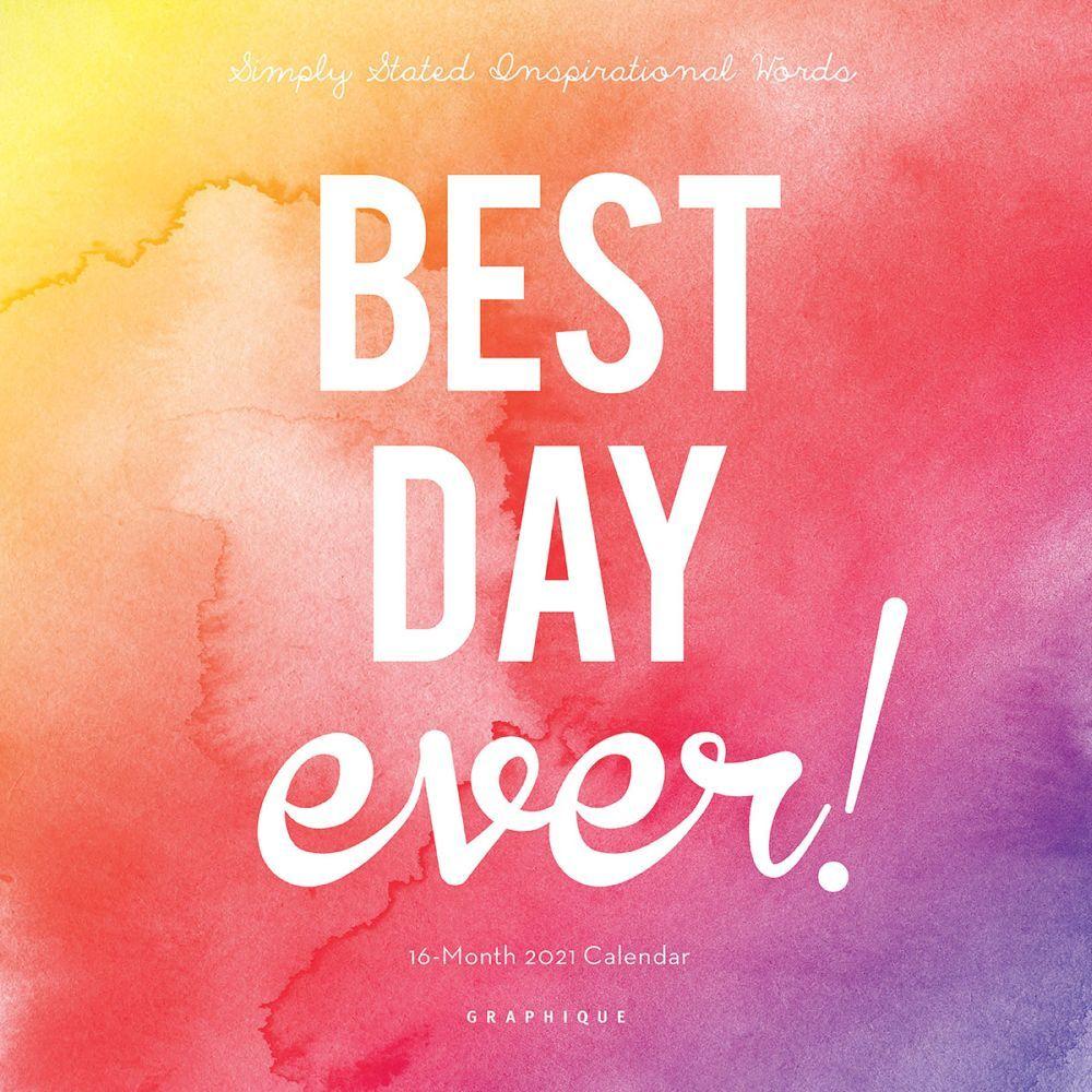 2021 Best Day Ever Mini Wall Calendar