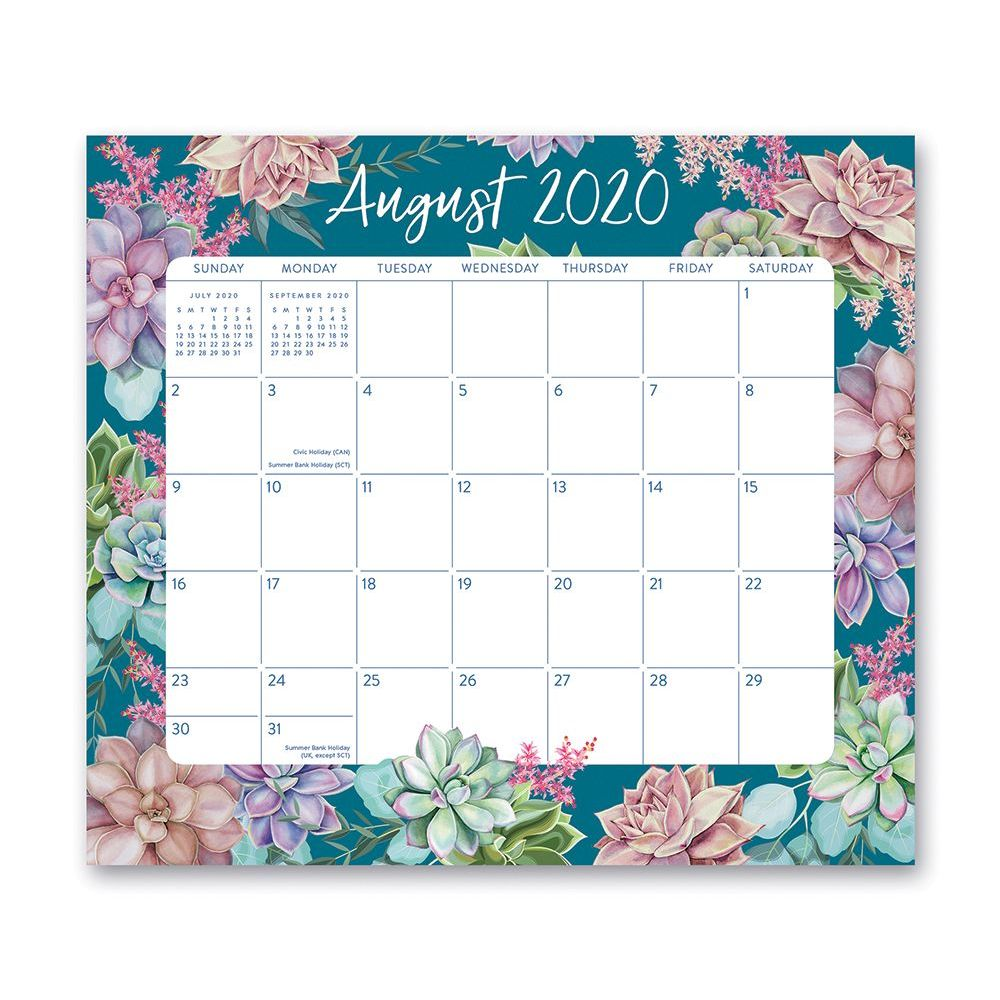 2021 Succulent Magnetic Wall Calendar