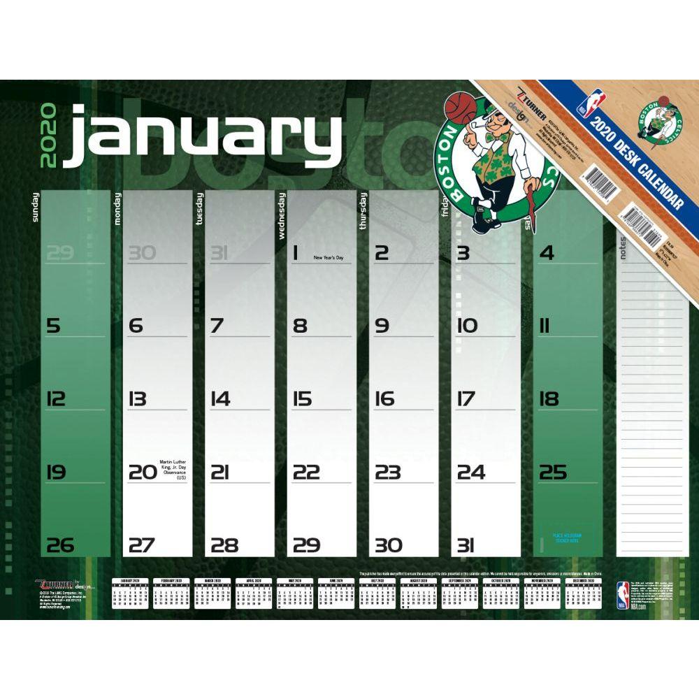 Boston Celtics 2021 Desk Pad