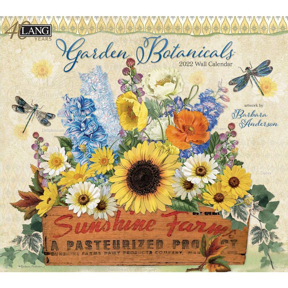 Garden Botanicals 2022 Wall Calendar