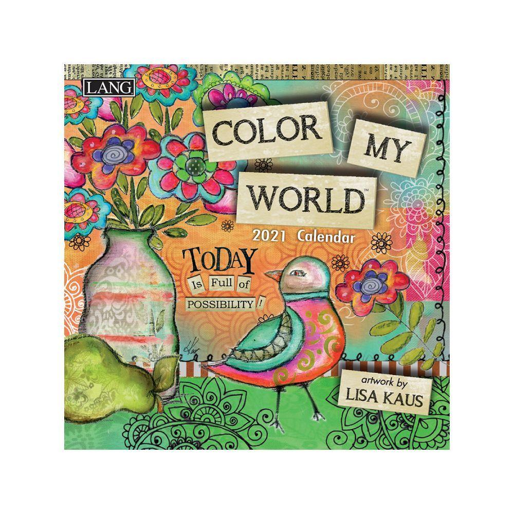 2021 Color My World Mini Wall Calendar by Lisa Kaus