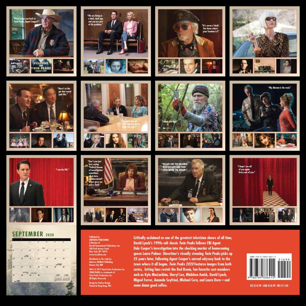 Twin Peaks Wall Calendar   Calendars.com