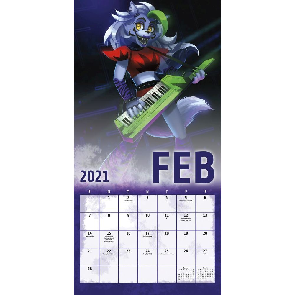 Five Nights At Freddys 2021 Calendar Pictures