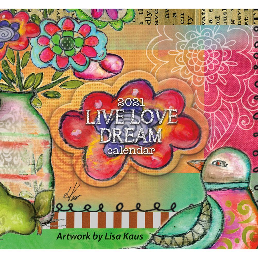 2021 Live Love Dream 365 Daily Thoughts Desk Calendar by Lisa Kaus