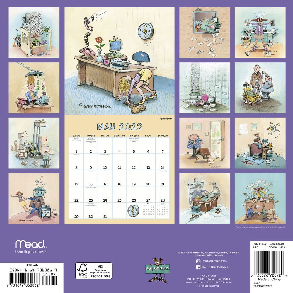 Patterson Funny Business 2022 Wall Calendar