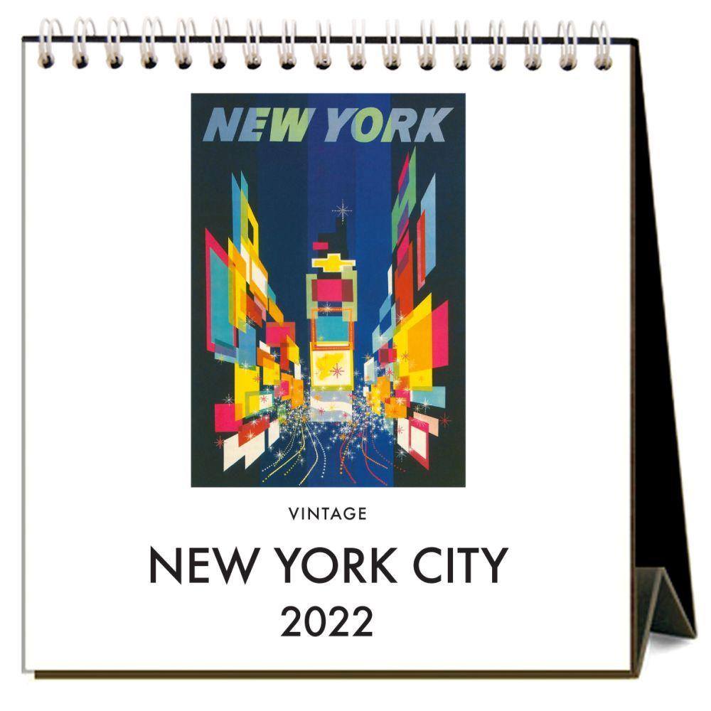 New York 2022 Easel Desk Calendar