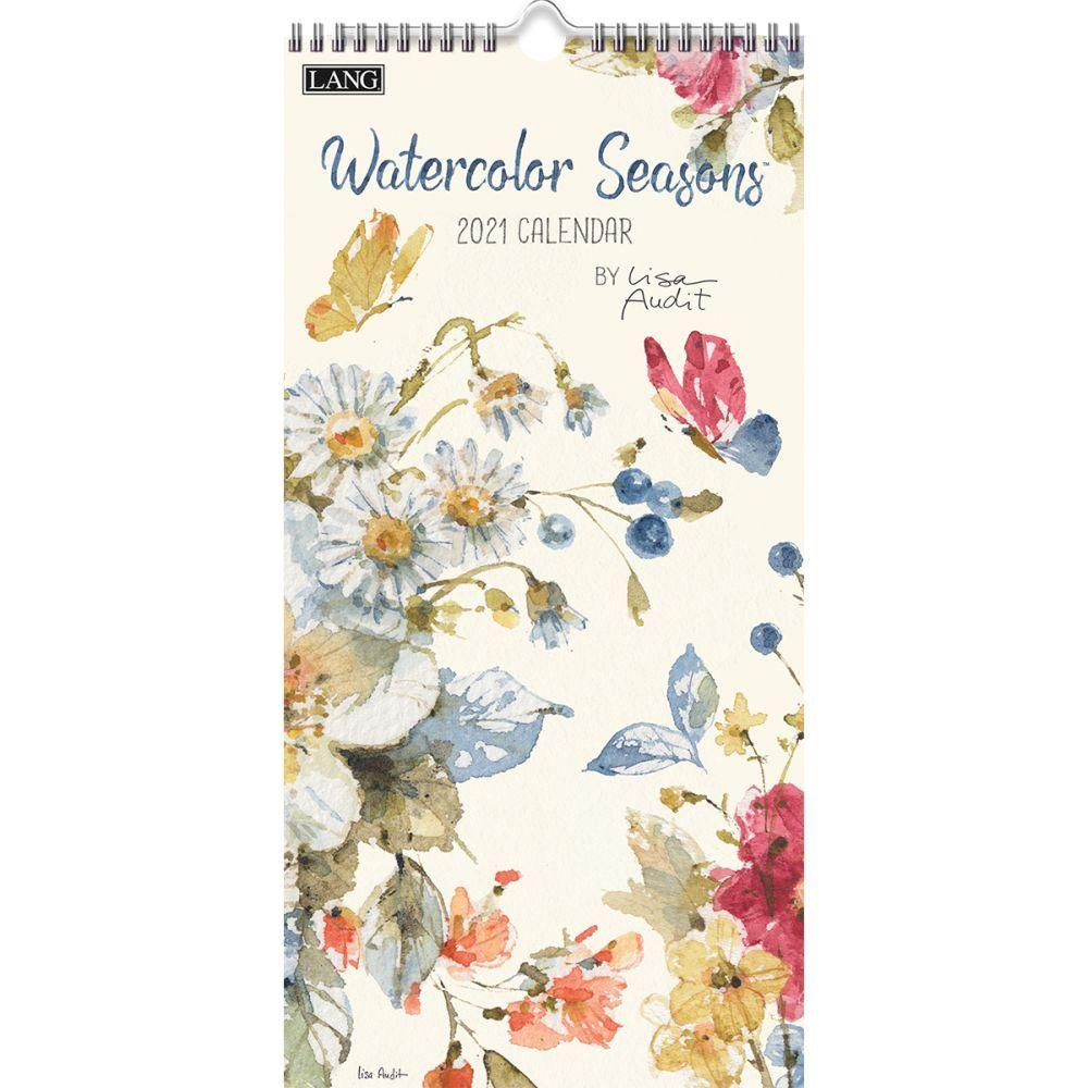 2021 Watercolor Seasons Vertical Wall Calendar by Lisa Audit