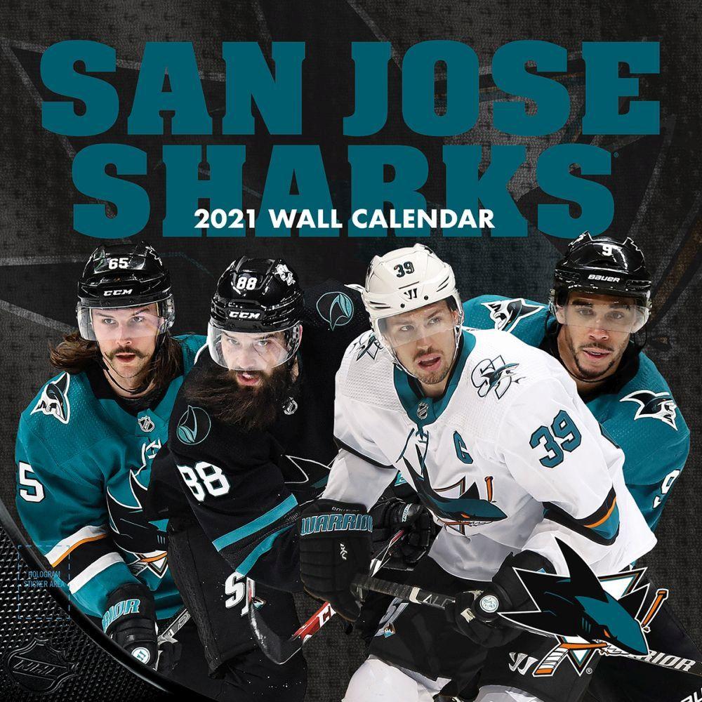 2021 San Jose Sharks Team Wall Calendar