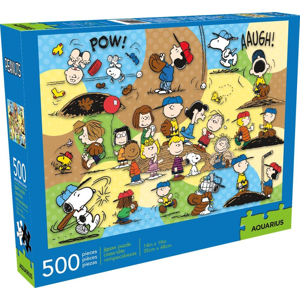 Best Peanuts Baseball 500pc Puzzle You Can Buy