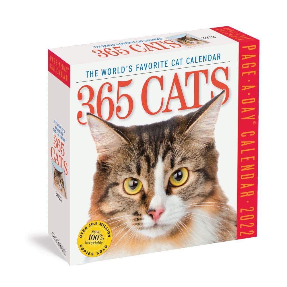 Cat Calendar 2022.365 Cats 2022 Page A Day Calendar Calendars Com
