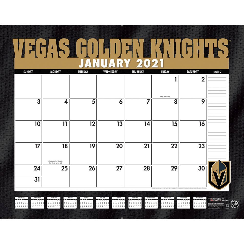 Vegas Golden Knights 2021 Desk Pad