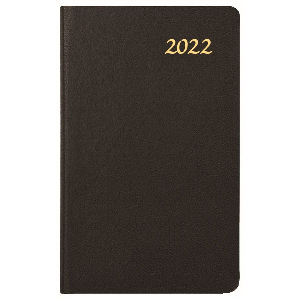 Skivertex Pocket 2022 Mini Weekly Planner (Black)