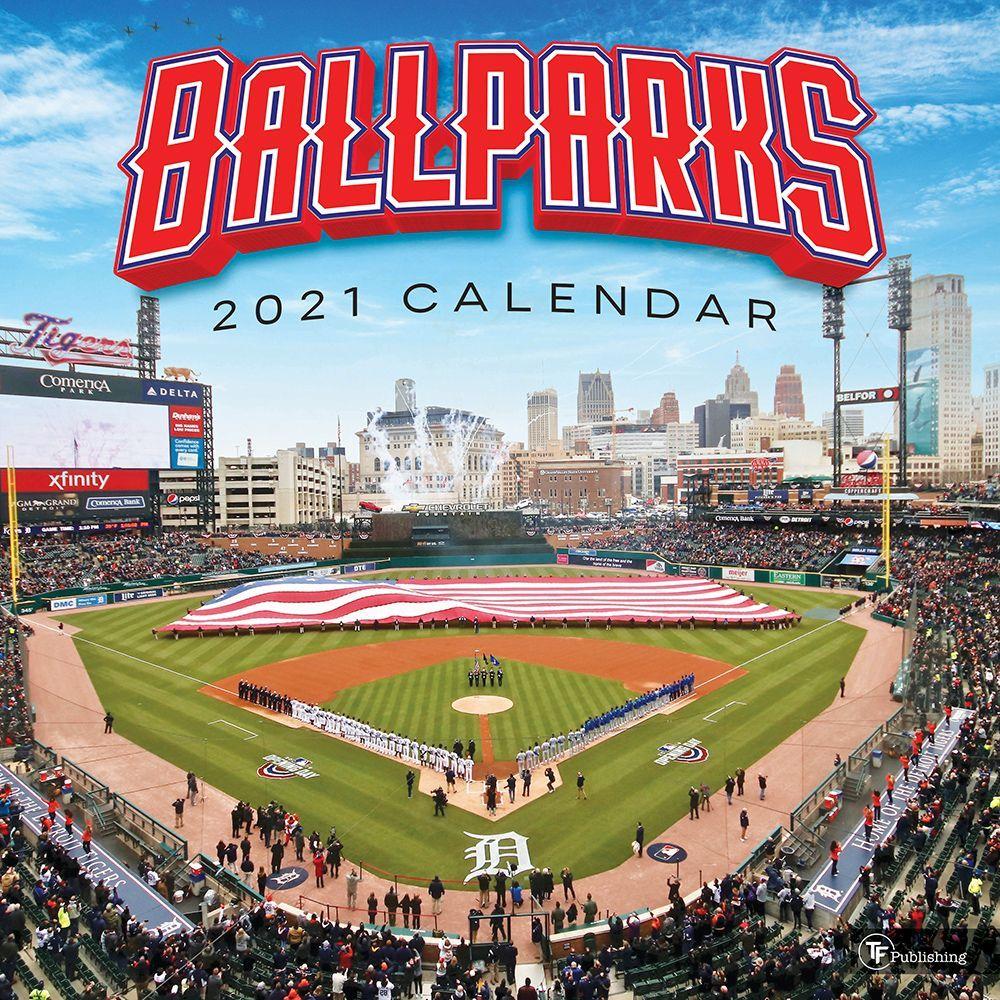Baseball Stadiums 2021 Wall Calendar