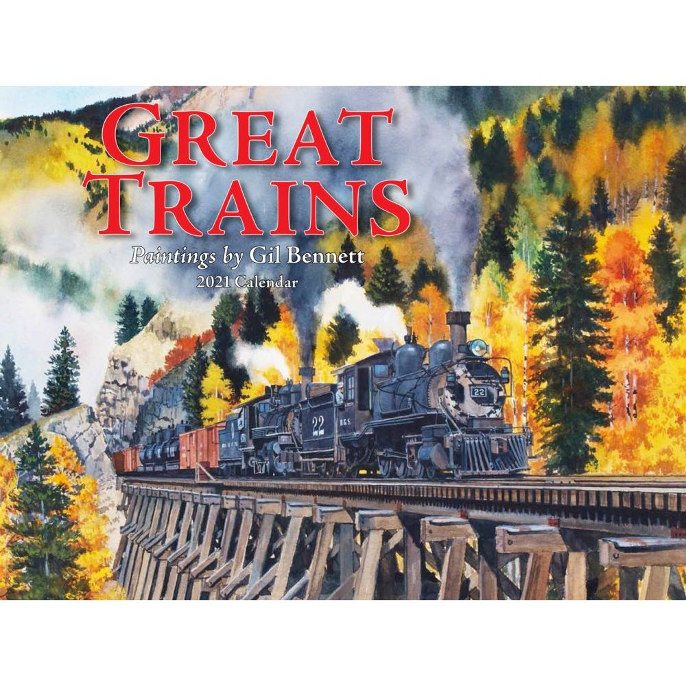 2021 Trains Great Wall Calendar