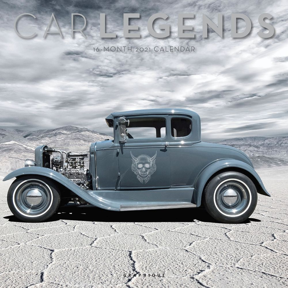 2021 Car Legends Wall Calendar
