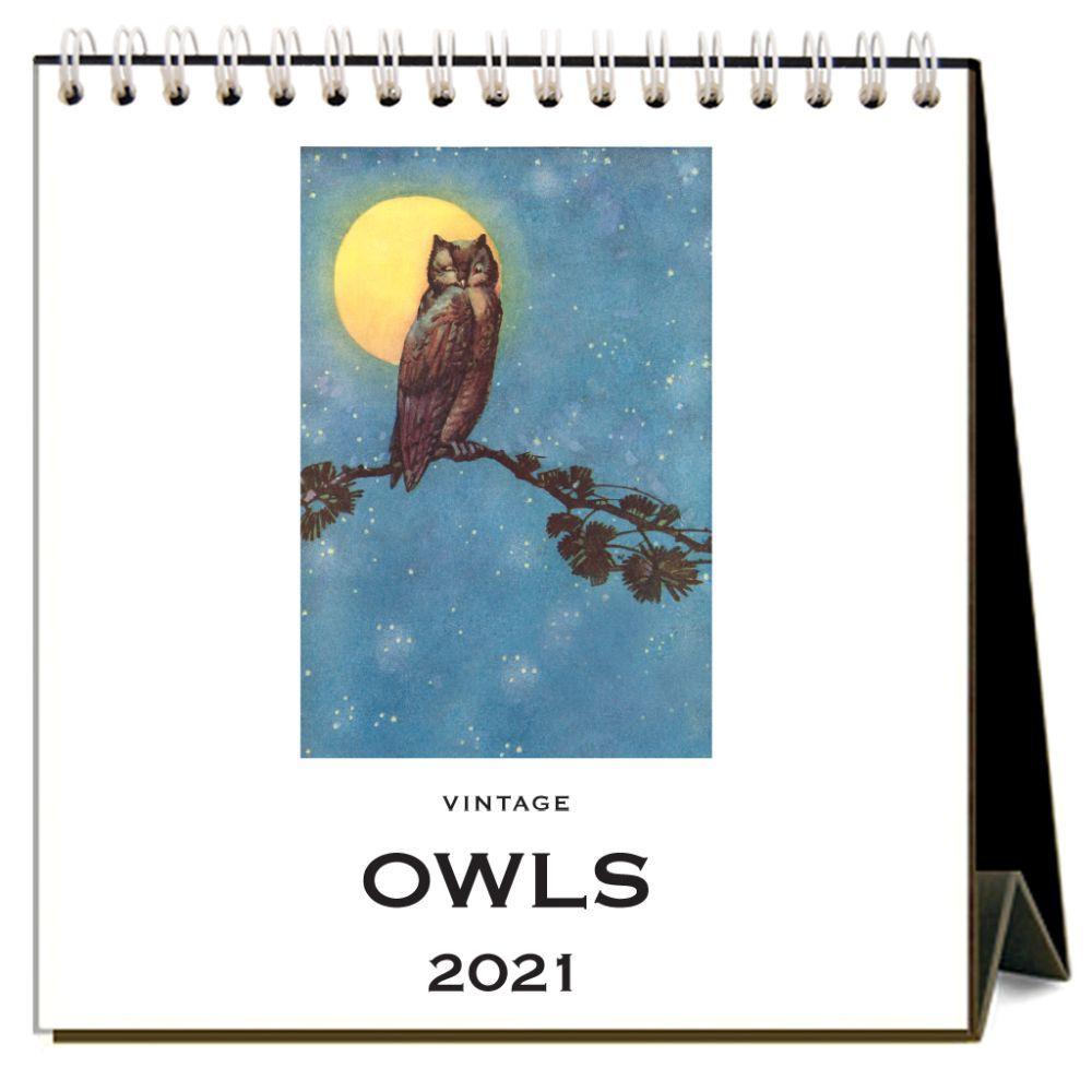 2021 Owls Easel Calendar