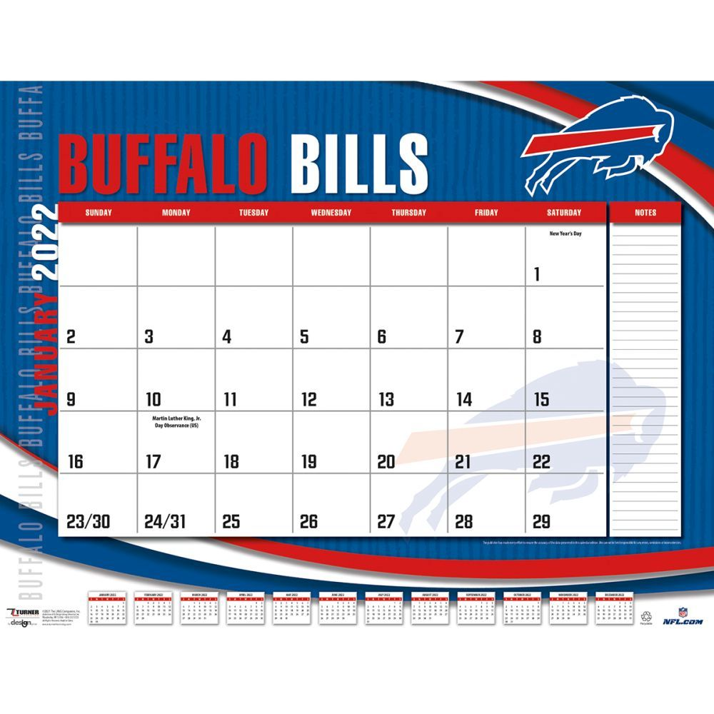 Buffalo Bills 2022 Desk Pad