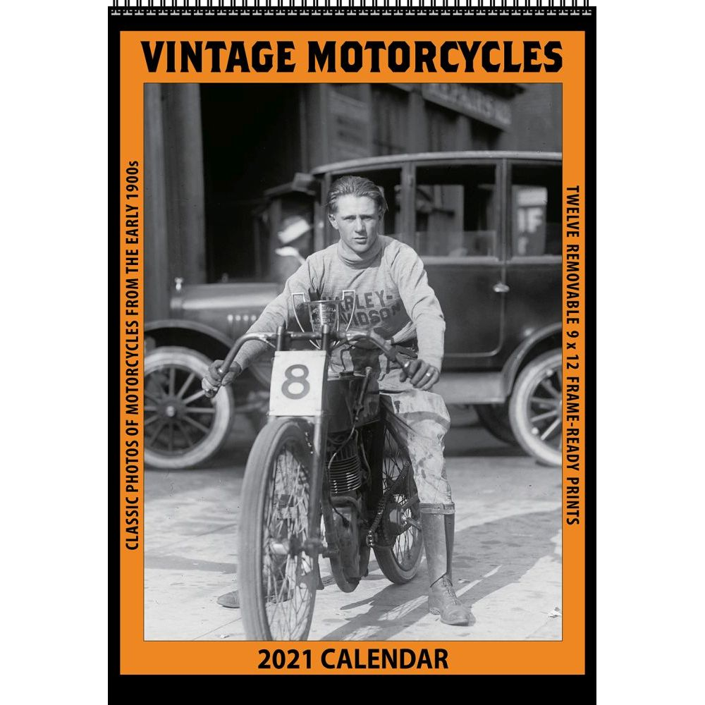 Motorcycles Vintage Poster Wall Calendar