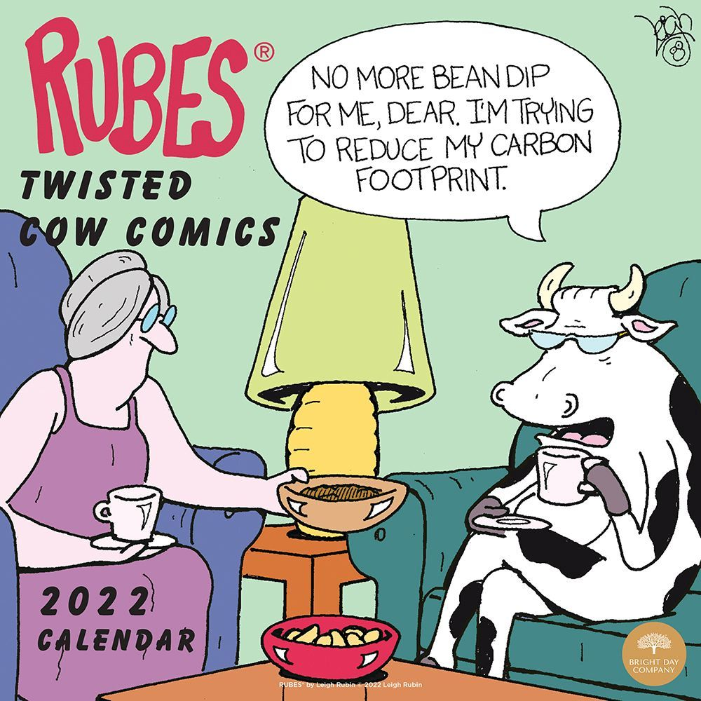 Rubes Twisted Cow Comics 2022 Wall Calendar