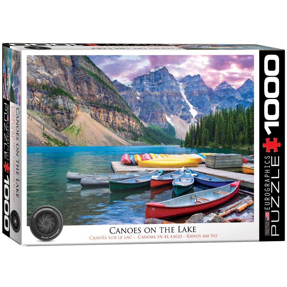 Best Canoes On The Lake 1000 Piece Puzzle You Can Buy