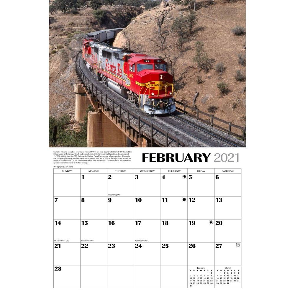 Santa Fe Calendar 2021 Trains Sante Fe Railroad Wall Calendar   Calendars.com