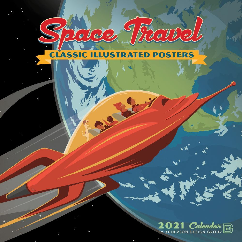 2021 Space Travel Wall Calendar