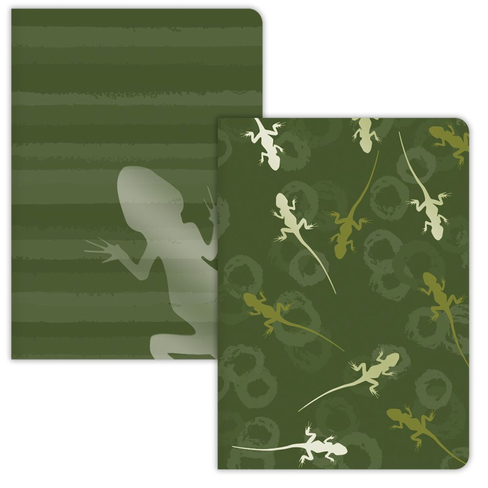 HERE LIZARD, LIZARD 2 PACK JOURNAL SET-2
